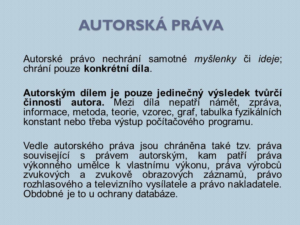 Autorské právo v České republice upravuje autorský zákon (zákon č.