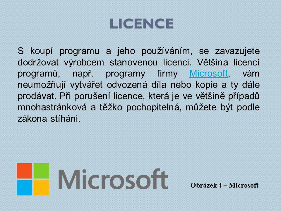 S koupí programu a jeho používáním, se zavazujete dodržovat výrobcem stanovenou licenci.