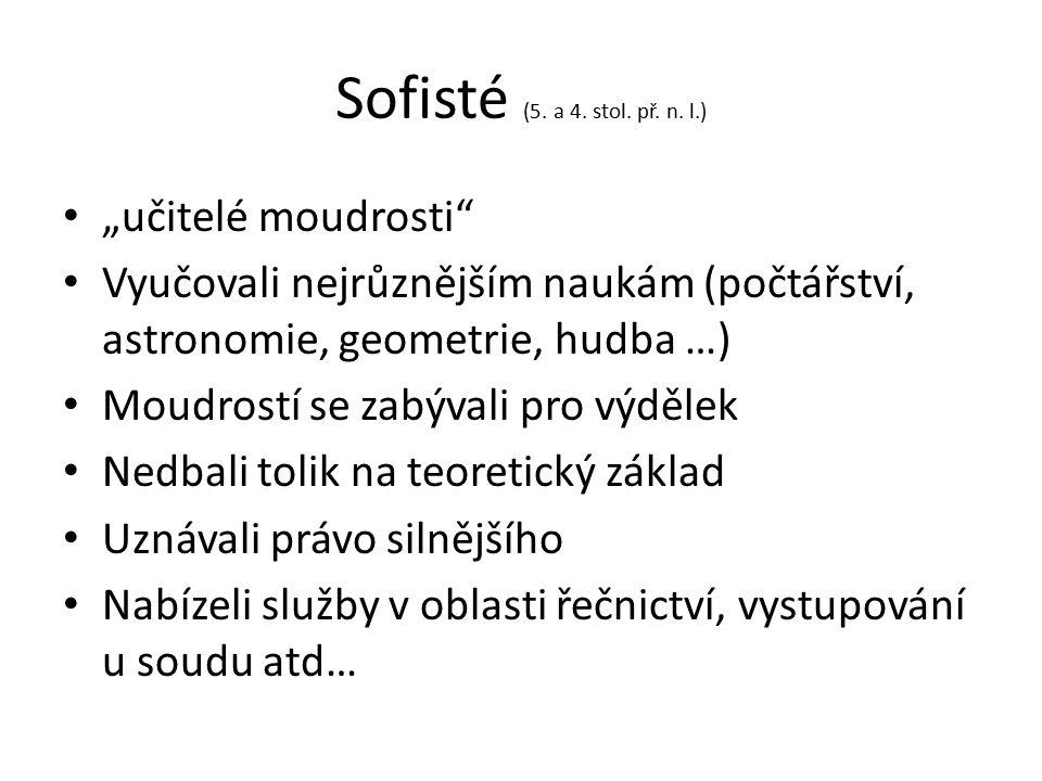 Sofisté (5. a 4. stol. př. n.