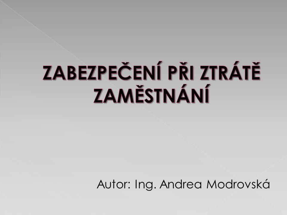 Autor: Ing. Andrea Modrovská