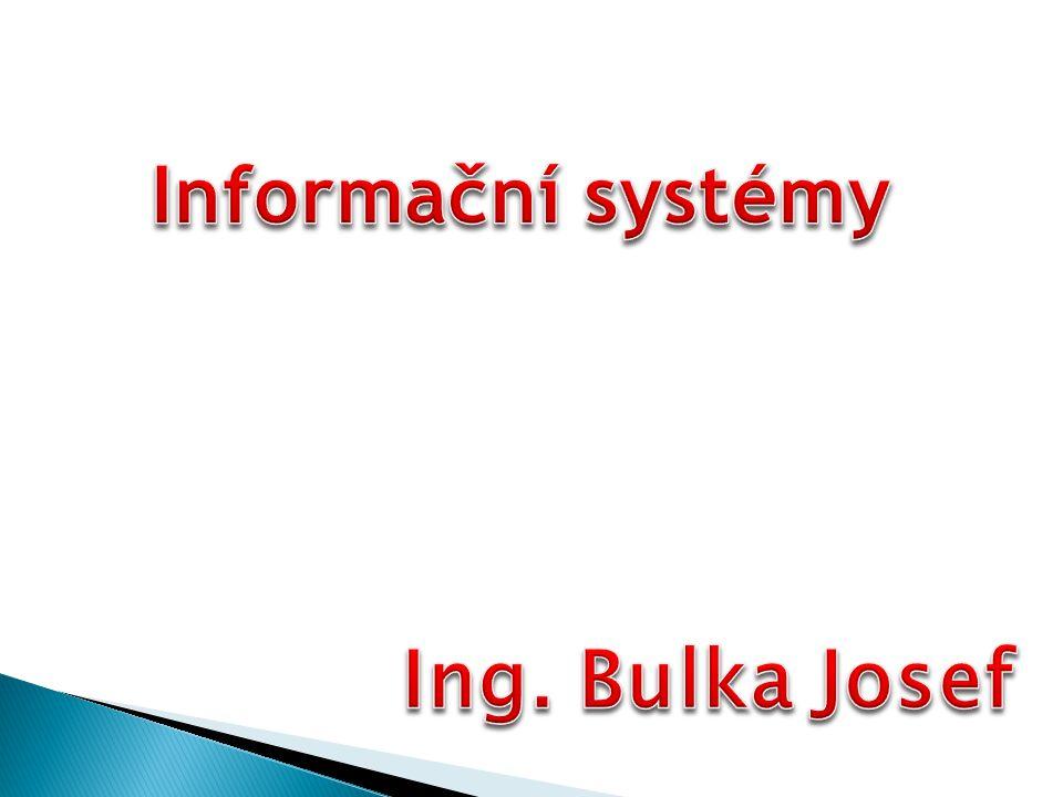 Informační systém je nejčastějším způsobem využívání počítačových systémů.