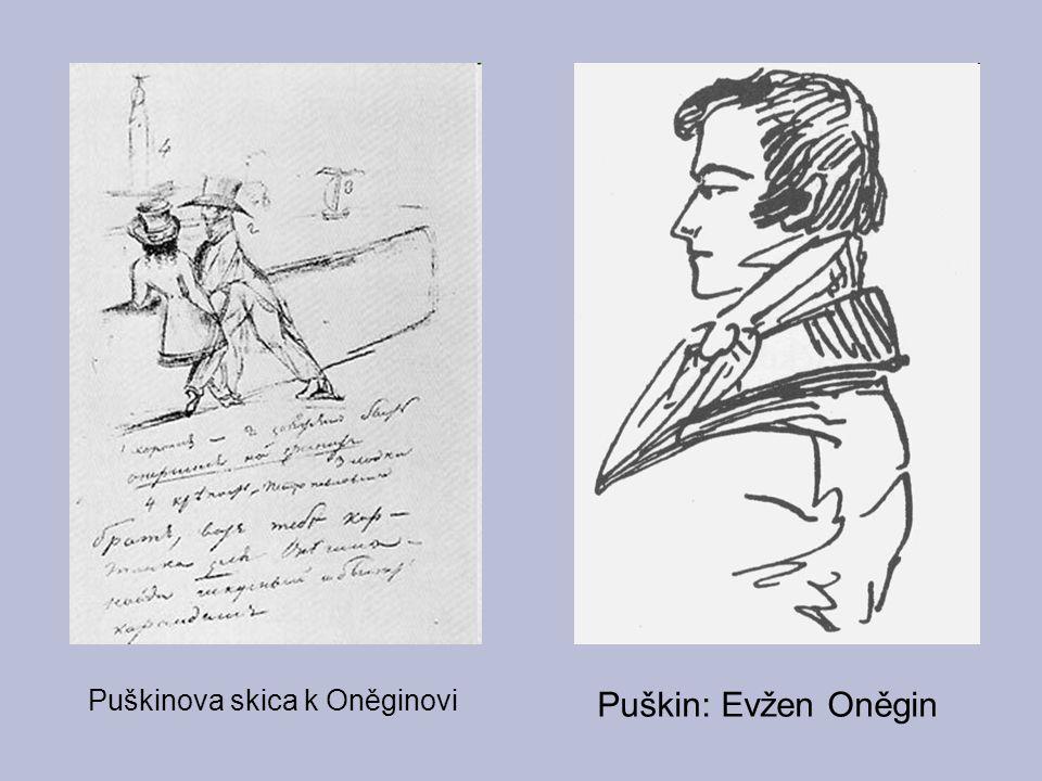Puškin: Evžen Oněgin Puškinova skica k Oněginovi