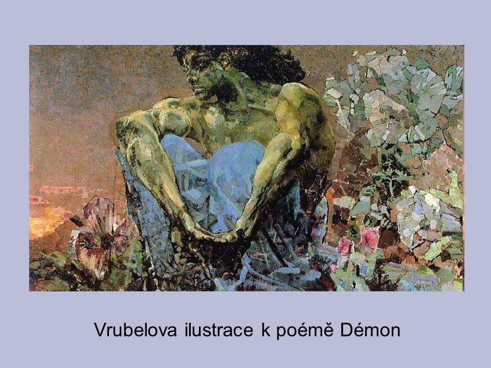 Vrubelova ilustrace k poémě Démon