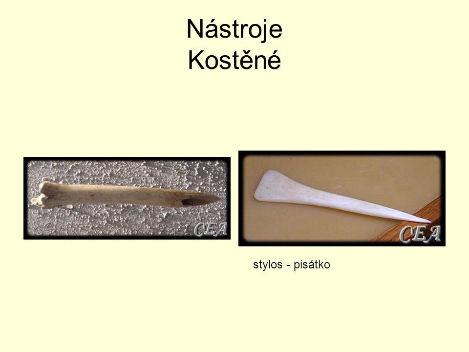 Nástroje Kostěné stylos - pisátko