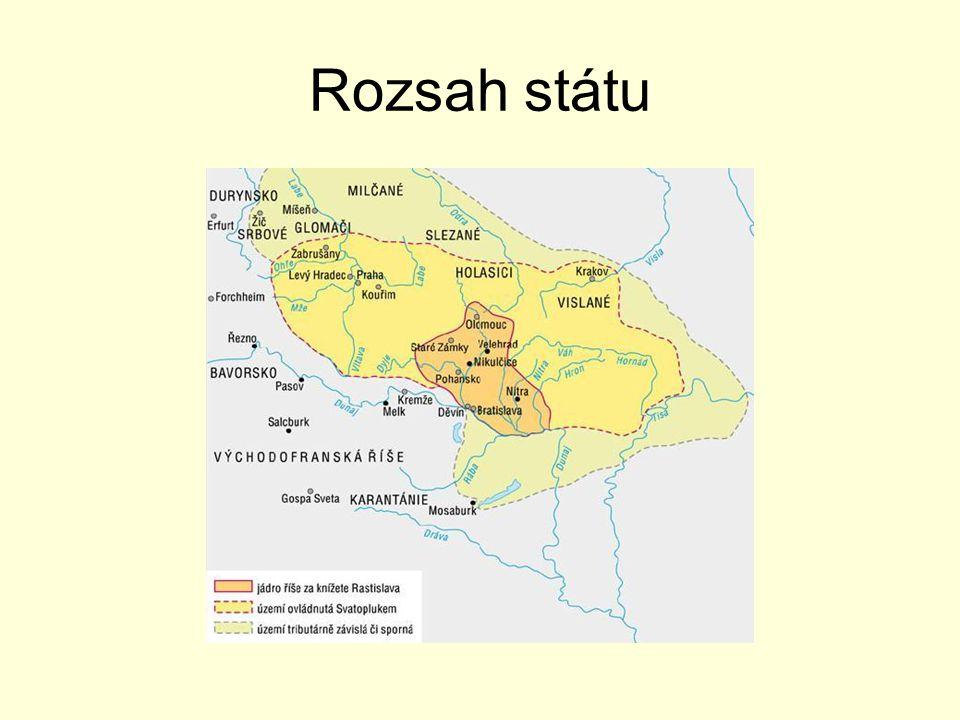 Vznik státu  Mojmír I.okolo 830 – 906 kolem 833 moravský kníže Mojmír I.