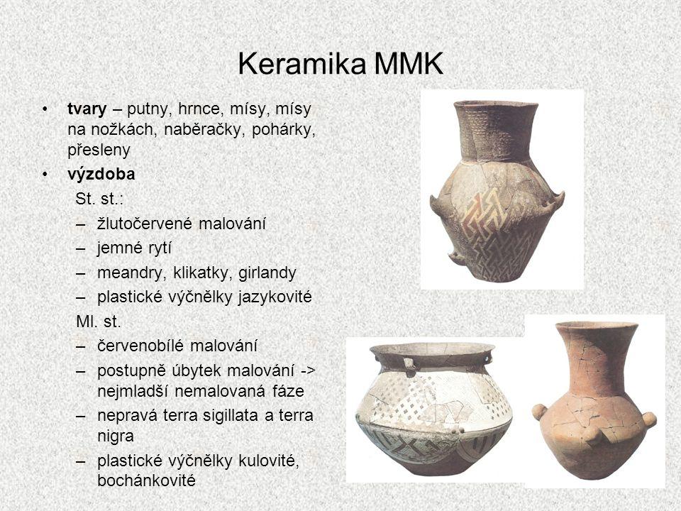 Keramika MMK tvary – putny, hrnce, mísy, mísy na nožkách, naběračky, pohárky, přesleny výzdoba St.