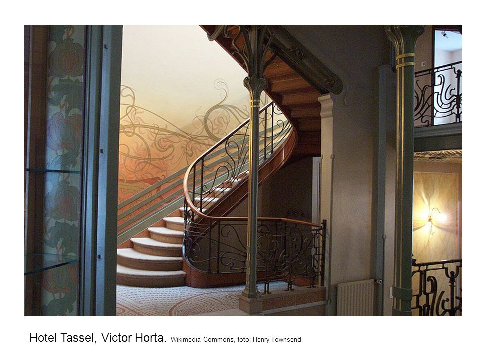 Hotel Tassel, Victor Horta. Wikimedia Commons, foto: Henry Townsend