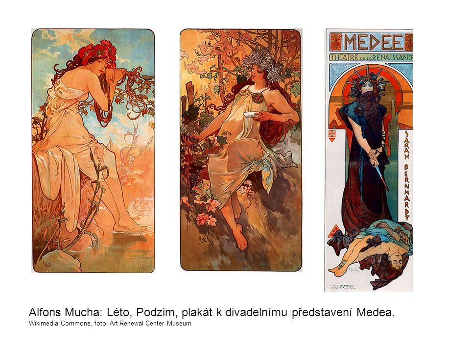 Alfons Mucha: Léto, Podzim, plakát k divadelnímu představení Medea.