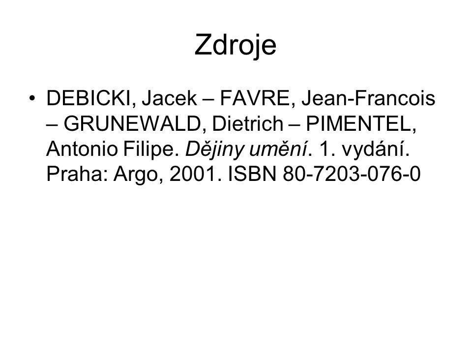 Zdroje DEBICKI, Jacek – FAVRE, Jean-Francois – GRUNEWALD, Dietrich – PIMENTEL, Antonio Filipe.