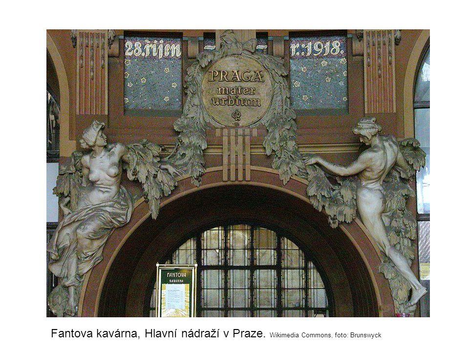 Fantova kavárna, Hlavní nádraží v Praze. Wikimedia Commons, foto: Brunswyck
