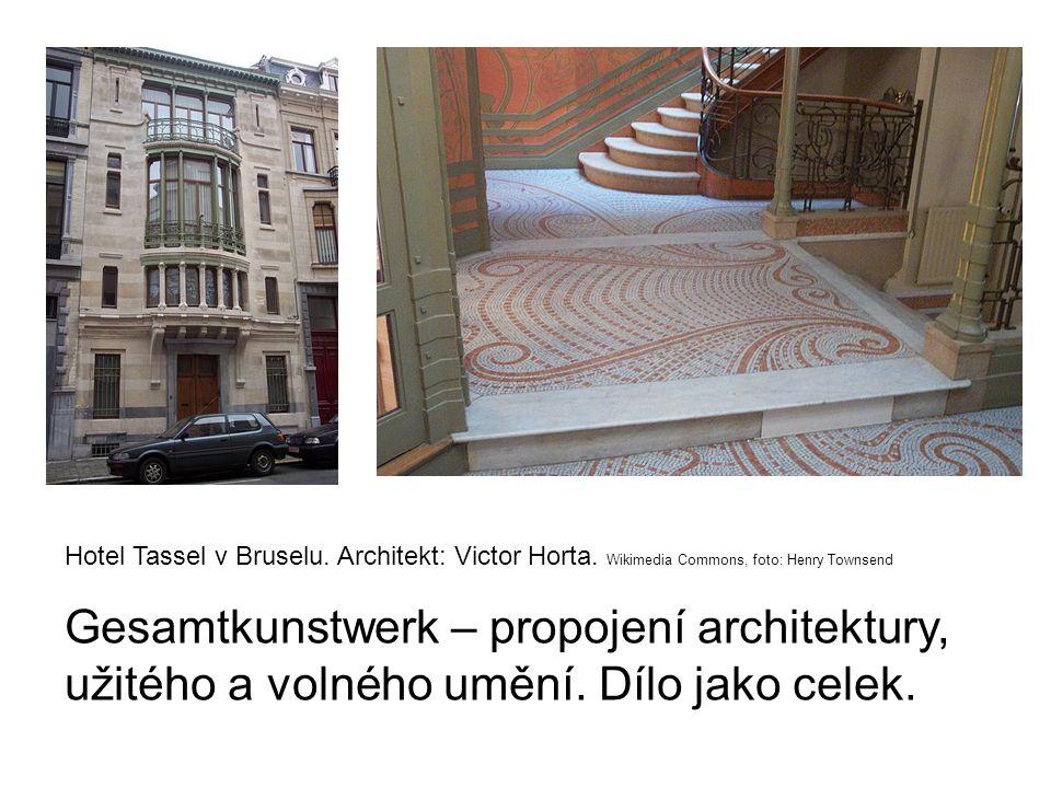 Hotel Tassel v Bruselu.Architekt: Victor Horta.