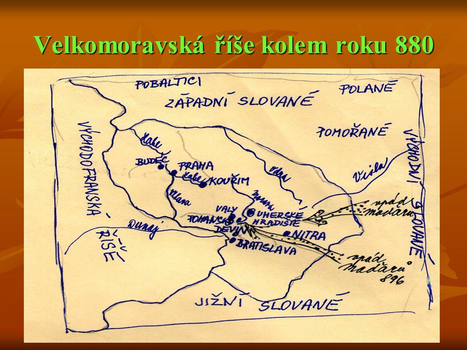 Velkomoravská říše kolem roku 880