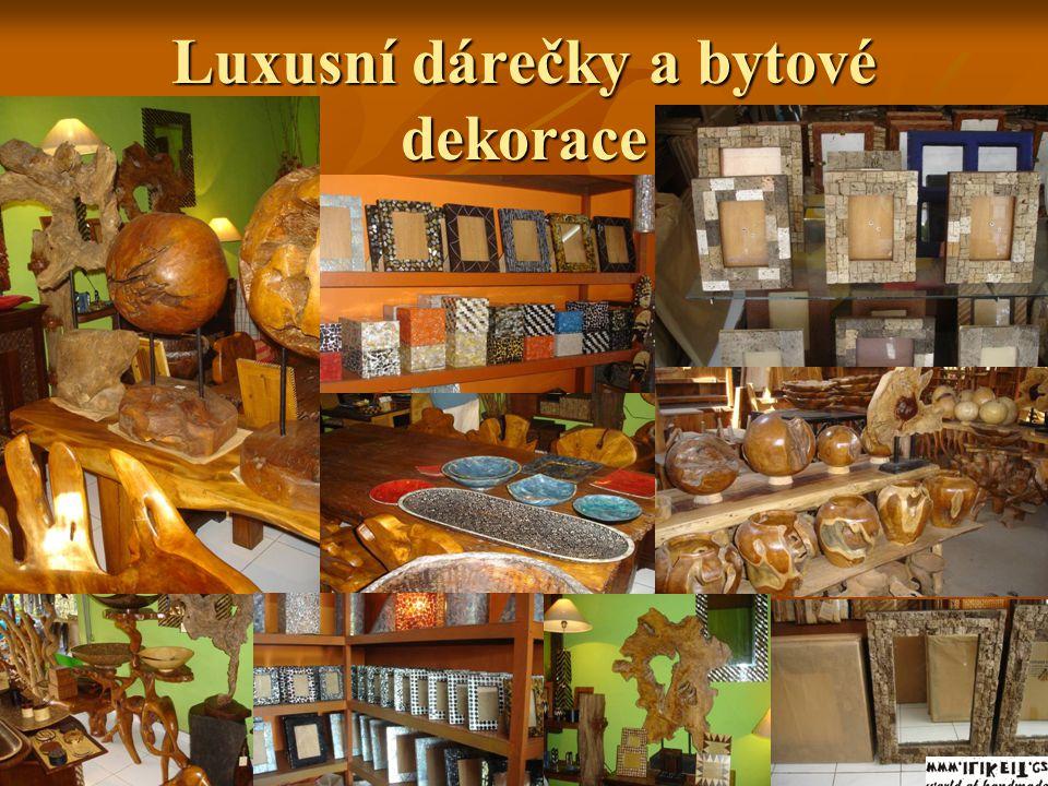 Luxusní dárečky a bytové dekorace