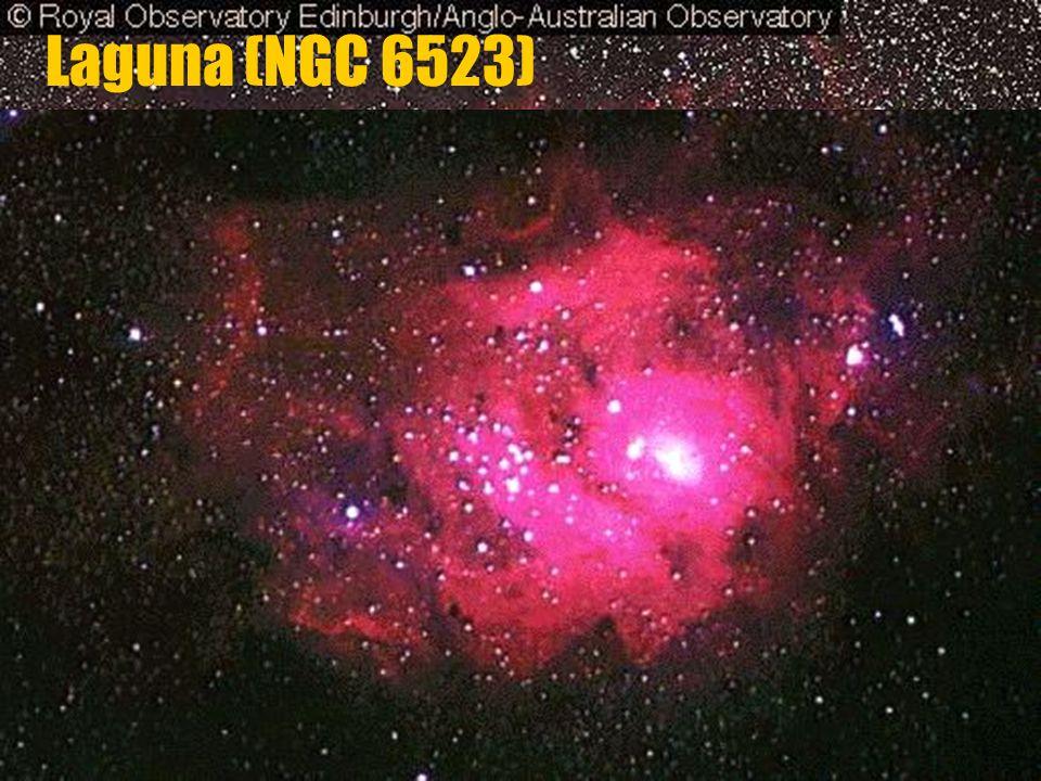 b b v souhvězdí Střelce b b vzdálenost: 4500 světelných let Laguna (NGC 6523)