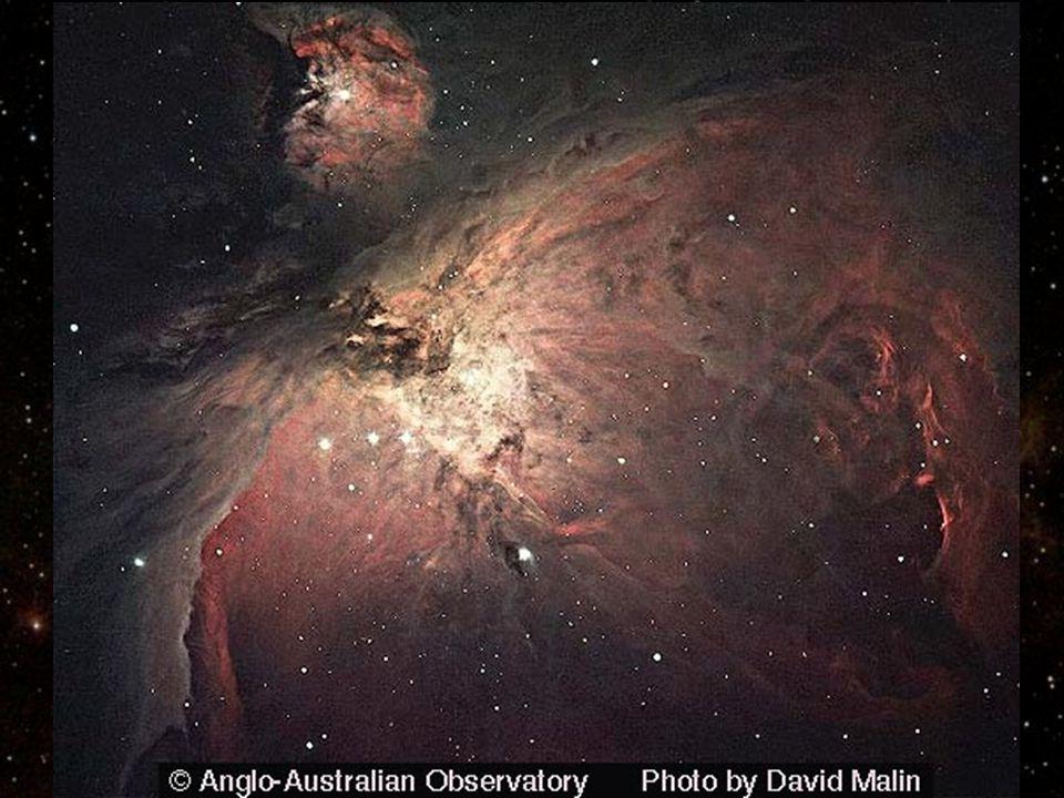 b b v souhvězdí Orionu b b vzdálenost: 1500 světelných let Velká mlhovina (M42, NGC 1976) (M43, NGC 1982) M42 NGC1973, 1975, 1977 M43 infračervený sní