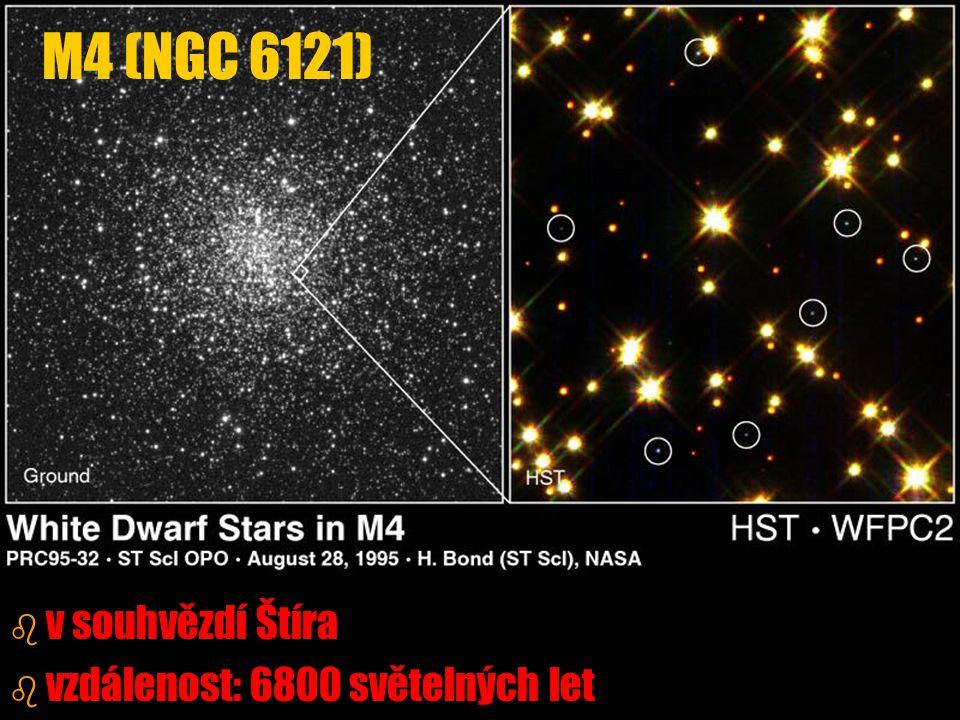 b b v souhvězdí Štíra b b vzdálenost: 6800 světelných let M4 (NGC 6121)