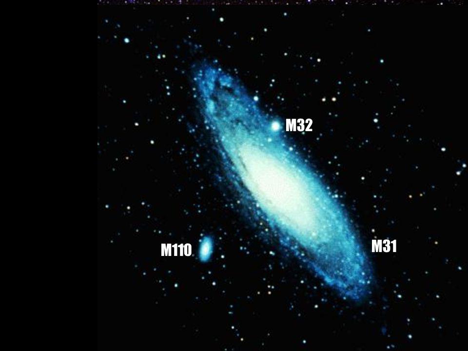 b b typ Sb b b v souhvězdí Andromedy b b vzdálenost: 2900 000světelných let b b průměr 150 000 světelných let b b asi 300 biliónů hvězd M31 (NGC 224)