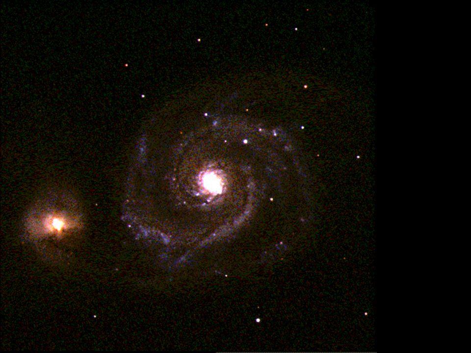 b b v souhvězdí Honicích psů b b vzdálenost: 37 000 000 světelných let b b typ Sc Vírová galaxie (M51, NGC 5194) NGC 5195 M51
