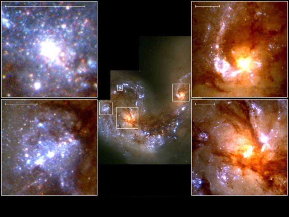 b b v souhvězdí Havrana b b vzdálenost: 63 000 000 světelných let Tykadla (NGC 4038, NGC 4039)