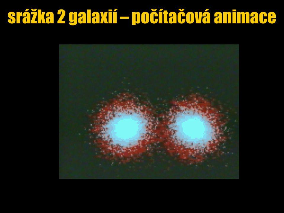 srážka 2 galaxií – počítačová animace