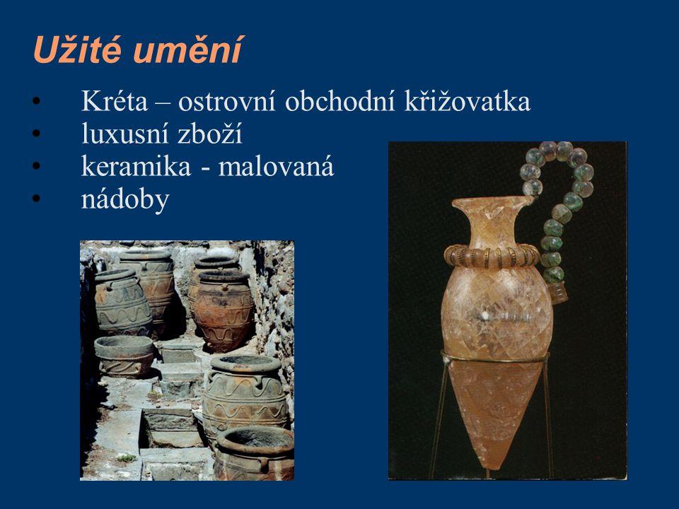 Kréta – ostrovní obchodní křižovatka luxusní zboží keramika - malovaná nádoby
