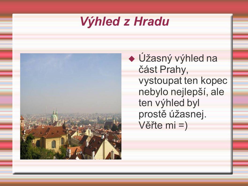 Pražský Hrad  Ano dočkali jste se, je tu náš vzácný Pražský hrad  Viděli jsme výměnu stráží.