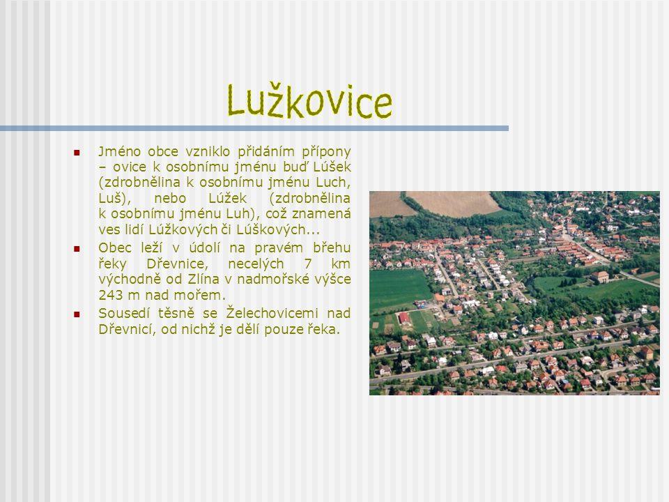 Stejný pohled na Lužkovice dnes a před 60-ti lety.