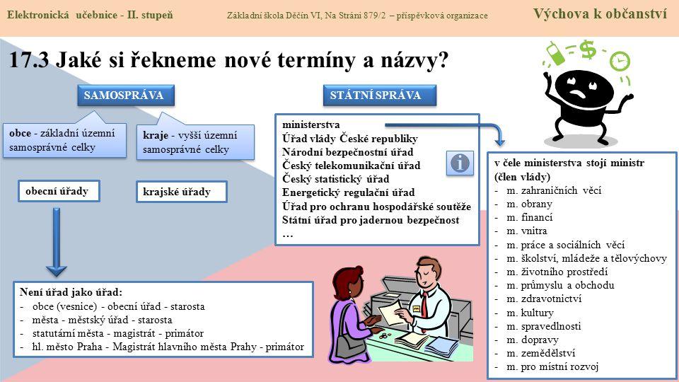 17.3 Jaké si řekneme nové termíny a názvy.Elektronická učebnice - II.