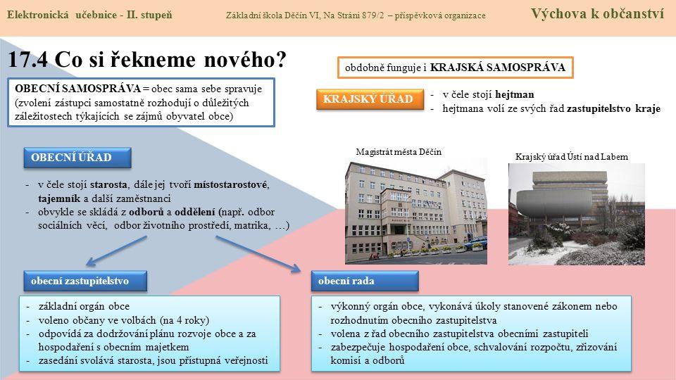 17.4 Co si řekneme nového.Elektronická učebnice - II.