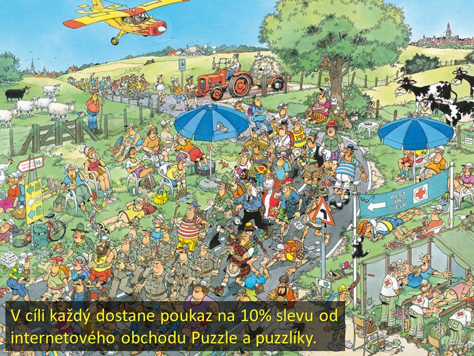 V cíli každý dostane poukaz na 10% slevu od internetového obchodu Puzzle a puzzlíky.