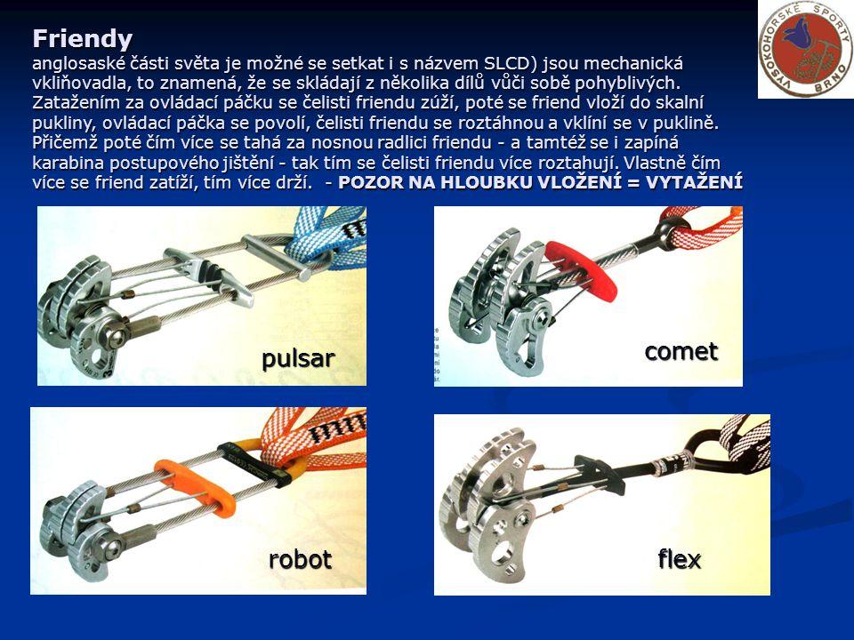 Friendy anglosaské části světa je možné se setkat i s názvem SLCD) jsou mechanická vkliňovadla, to znamená, že se skládají z několika dílů vůči sobě pohyblivých.