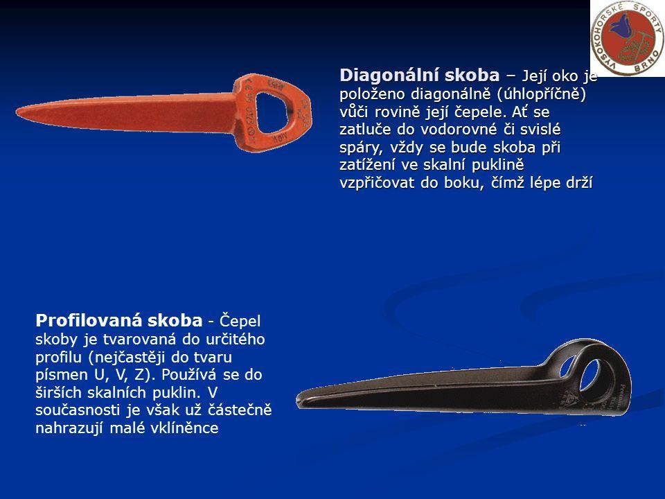 Profilovaná skoba - Čepel skoby je tvarovaná do určitého profilu (nejčastěji do tvaru písmen U, V, Z).