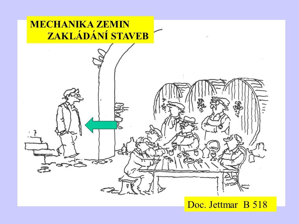 MECHANIKA ZEMIN ZAKLÁDÁNÍ STAVEB Doc. Jettmar B 518
