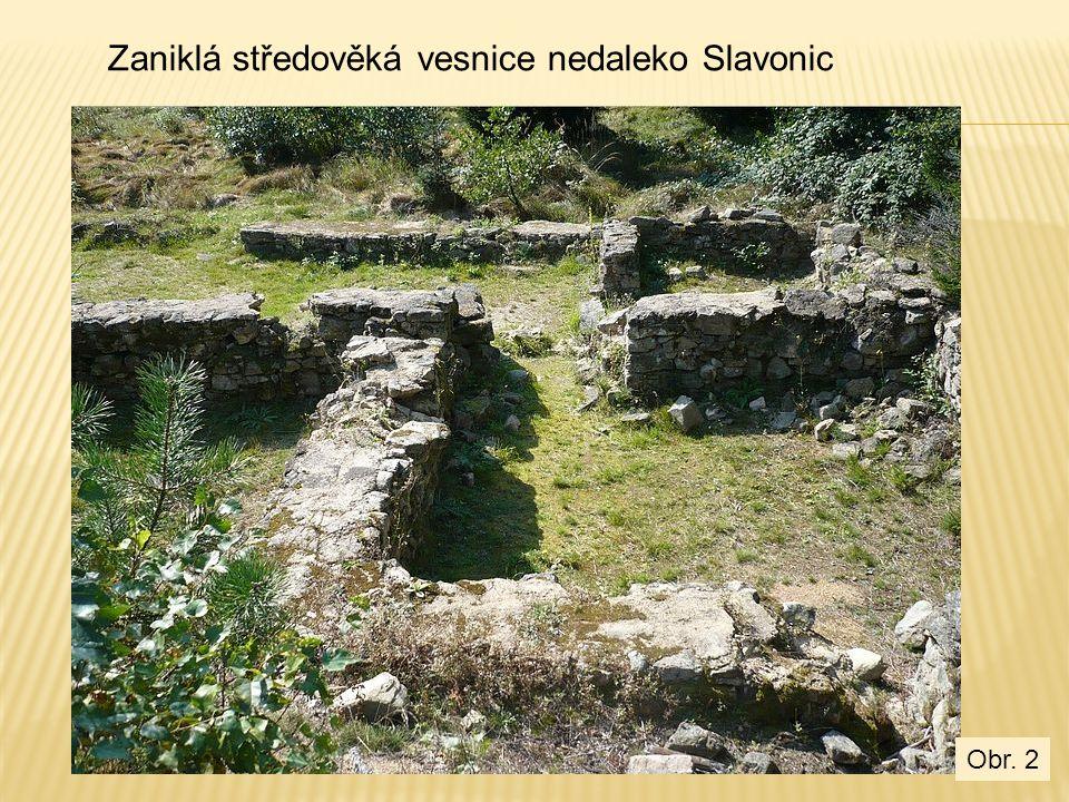 Zaniklá středověká vesnice nedaleko Slavonic Obr. 2