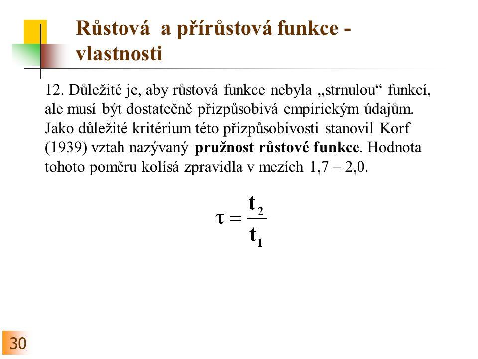 30 Růstová a přírůstová funkce - vlastnosti 12.