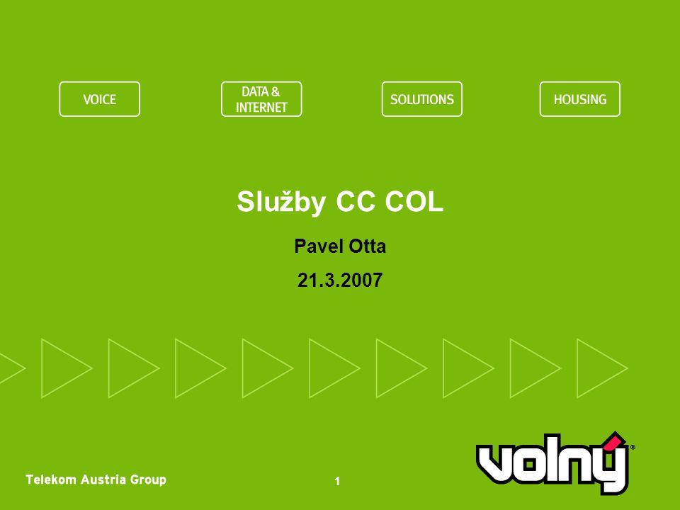 Služby CC COL Pavel Otta 21.3.2007 1