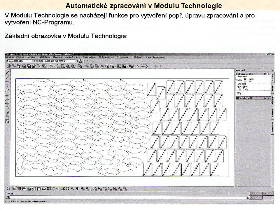 Volba Technologické tabulky a pracovního předpisu
