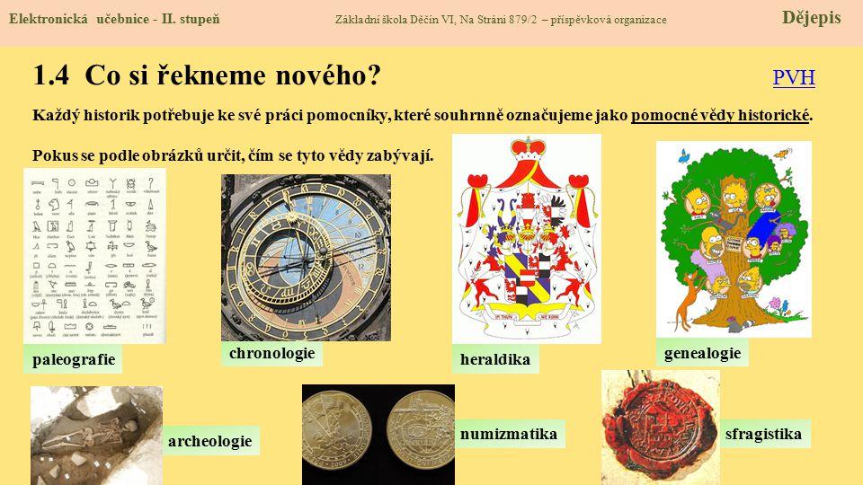 1.5 Procvičení a příklady Elektronická učebnice - II.