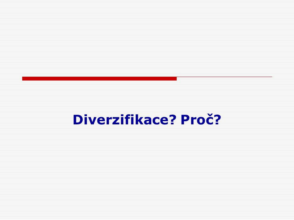 Diverzifikace Proč