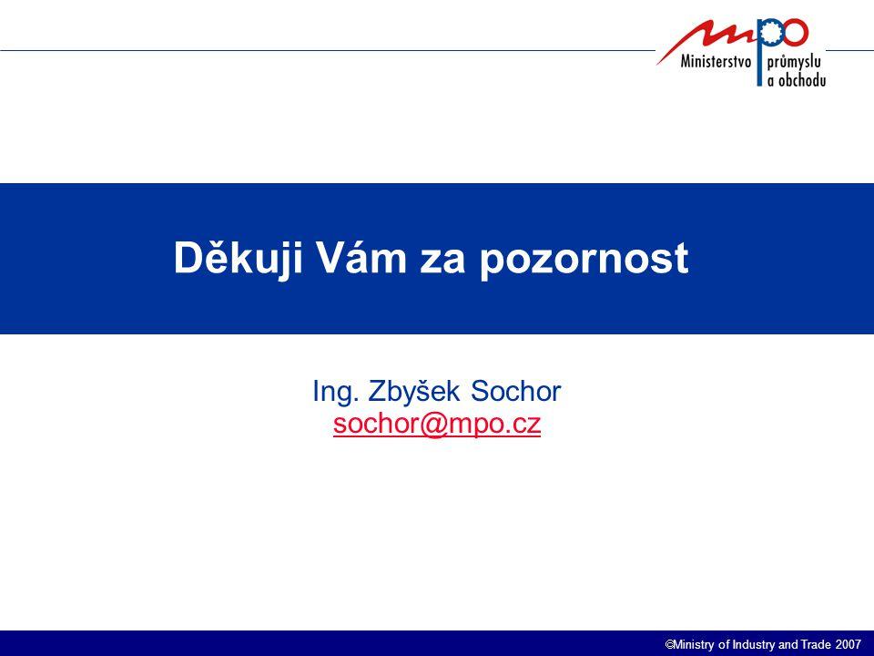  Ministry of Industry and Trade 2007 Děkuji Vám za pozornost.