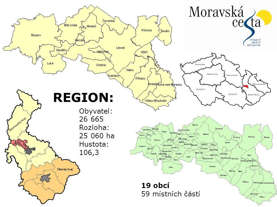 20.12.2010Snímek 4 Obyvatel: 26 665 Rozloha: 25 060 ha Hustota: 106,3 19 obcí 59 místních částí REGION: