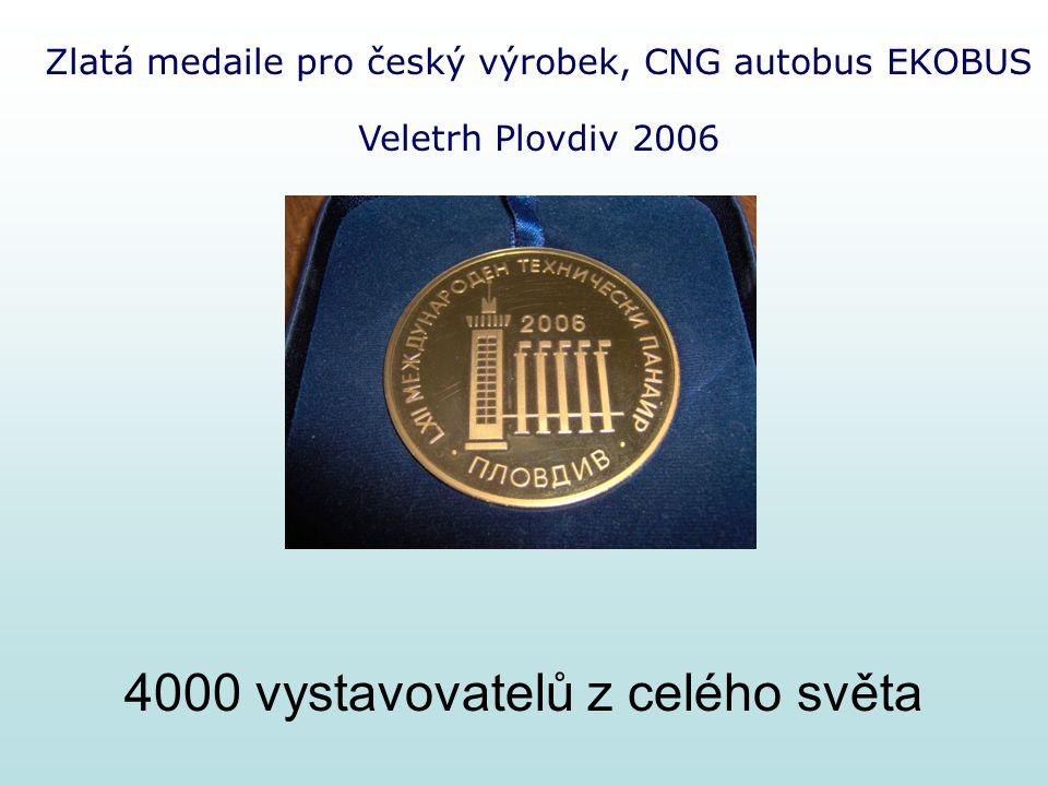 Zlatá medaile pro český výrobek, CNG autobus EKOBUS Veletrh Plovdiv 2006 4000 vystavovatelů z celého světa