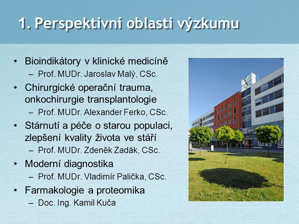1. Perspektivní oblasti výzkumu Bioindikátory v klinické medicíně –Prof. MUDr. Jaroslav Malý, CSc. Chirurgické operační trauma, onkochirurgie transpla