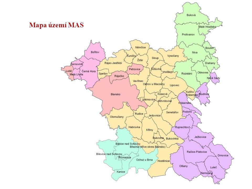 Mapa území MAS