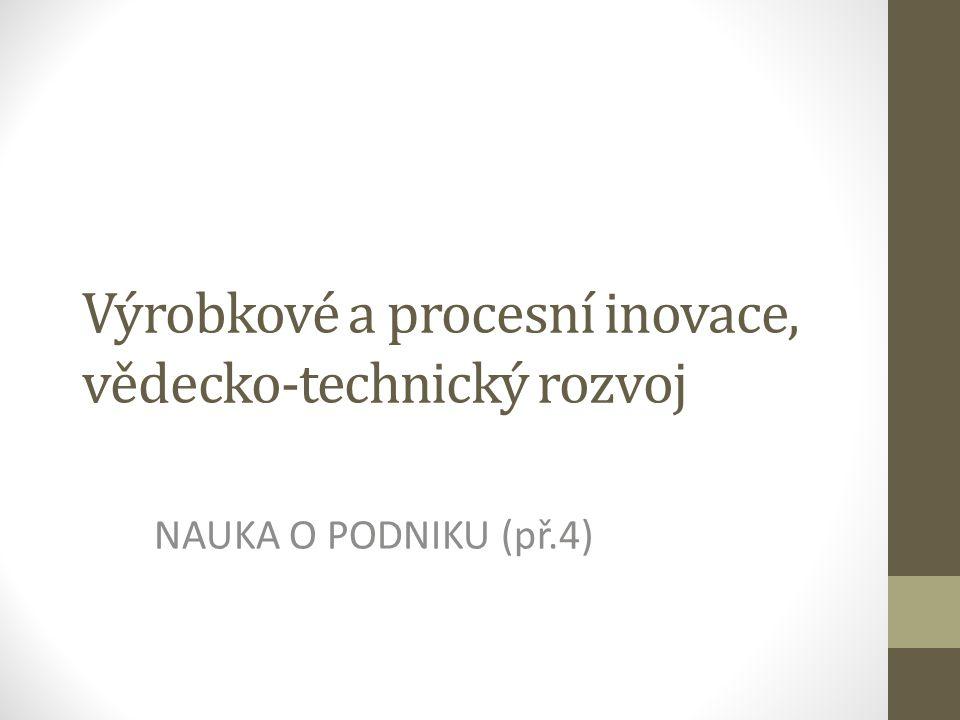 Výrobkové a procesní inovace, vědecko-technický rozvoj NAUKA O PODNIKU (př.4)
