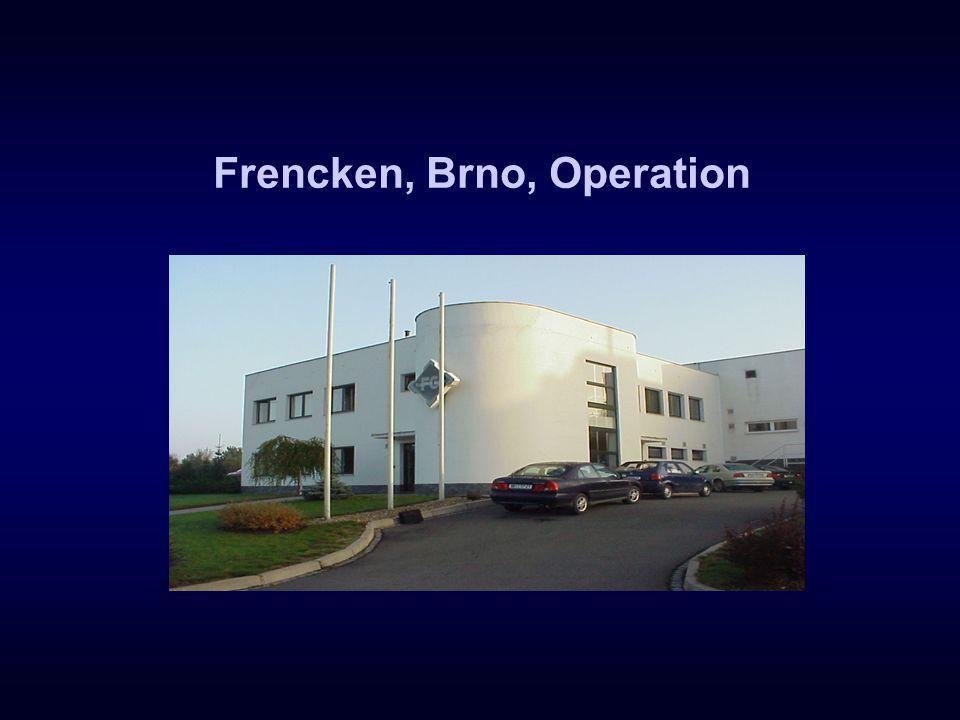 Frencken, Brno, Operation