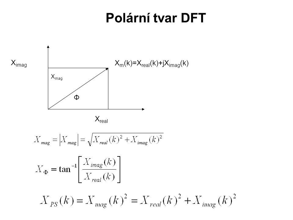 Z předchozích vztahů vyplývá, že 2D DFT je možné počítat postupně s využitím 1D DFT: 1.