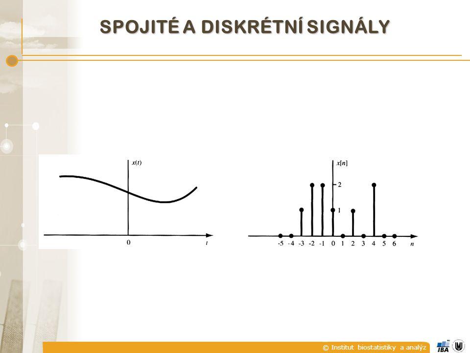 © Institut biostatistiky a analýz VZORKOVACÍ TEORÉM (Nyquistův, Shannonův, Kotělnikovův) f vz ≥ 2f max Vzorkovací frekvence musí být rovna minimálně dvojnásobku frekvence harmonické složky s nejvyšší frekvencí obsaženou v daném signálu.