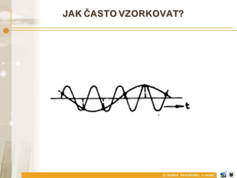 © Institut biostatistiky a analýz JAK Č ASTO VZORKOVAT?
