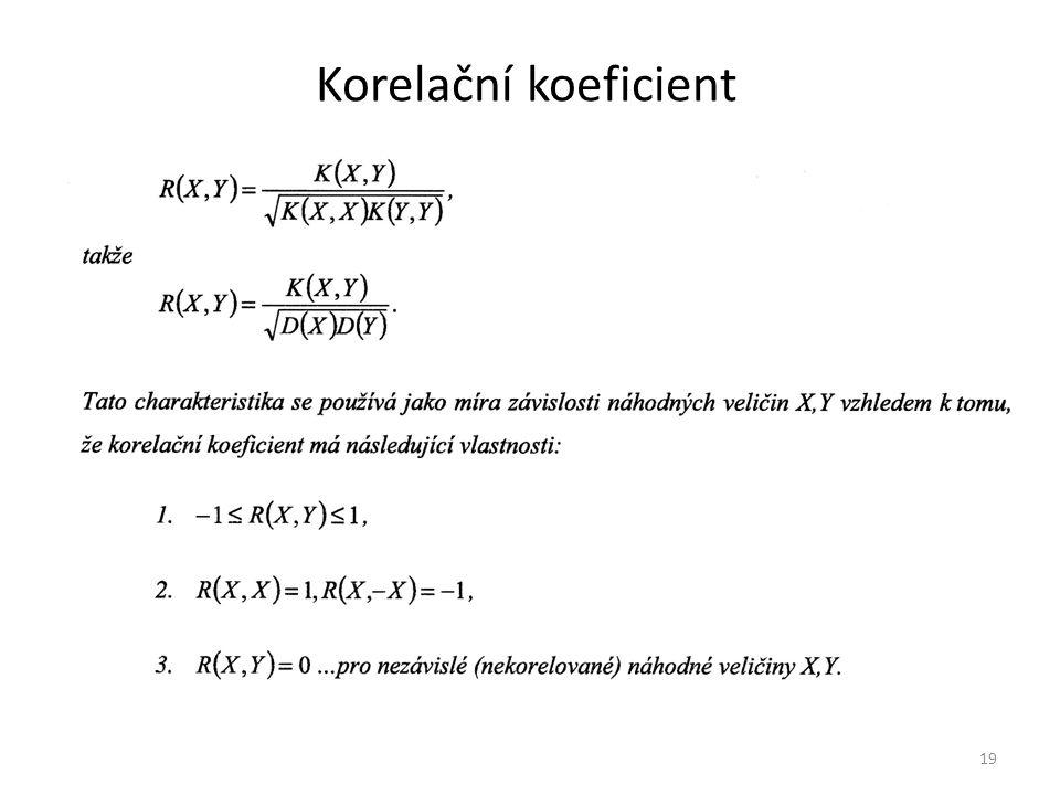 Korelační koeficient 19